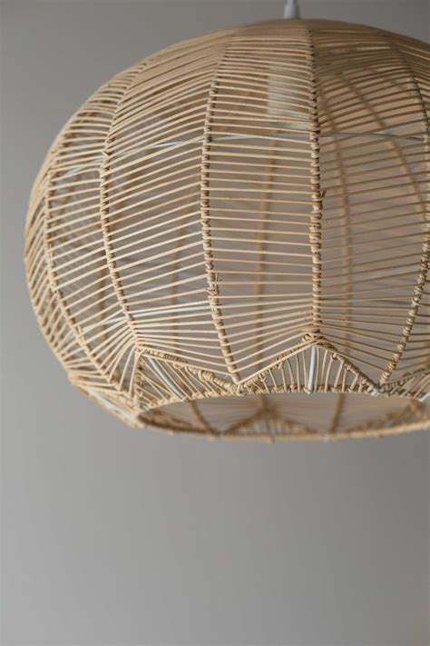 acrylic and glass chandelier thayer reed natural round rattan pendant ebay
