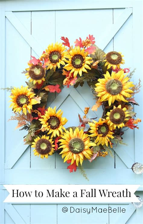 how to make a fall wreath daisymaebelle daisymaebelle
