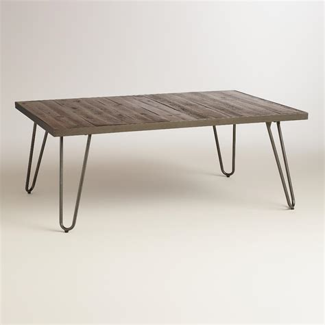 hairpin bench rectangular wood hairpin coffee table world market
