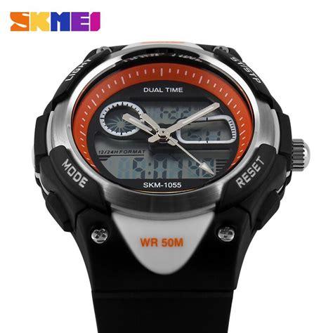 Jam Tangan Led Anak Original Skmei Model Ad1055 1055 Skmei Jam Tangan Anak Ad1055 Black White