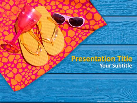 Free Summer Holiday Powerpoint Template Download Free Summer Template Powerpoint
