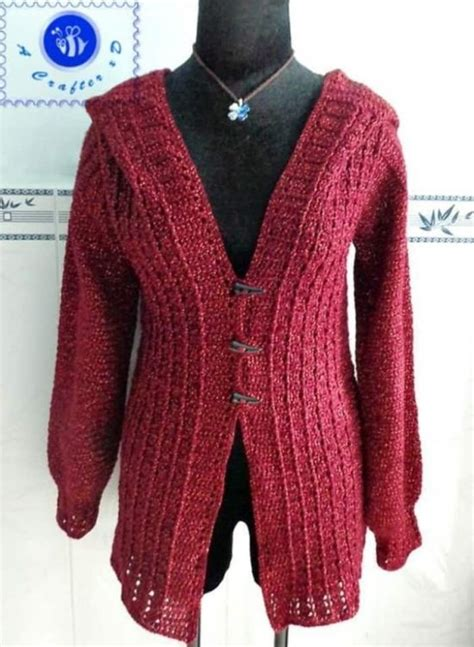 pattern hooded cardigan crochet pattern hooded sweater full zip sweater