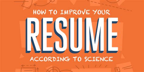 how to improve your resume according to science netcredit