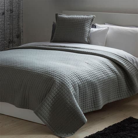 bed throws quilted knitted bed throws in grey saffron cobalt