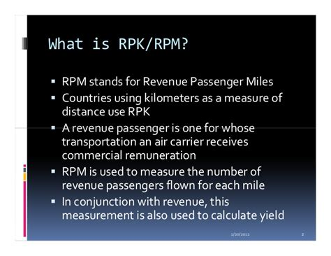 What Does Mba 1 Yr Stand For In College by Revenue Passenger Mile Yield