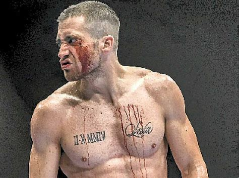 neck tattoo in southpaw gyllenhaal sports tattoo pictures to pin on pinterest