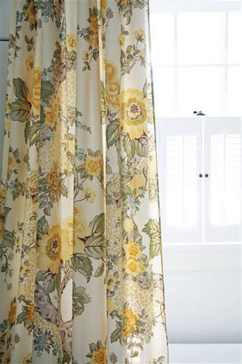 yellow floral curtains in the fields downstairs bathroom revisited again