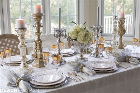 and silver table settings year s day brunch table setting mixing gold and silver