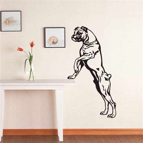size wall stickers ehome large size boxer wall decals vinyl stickers home decor pets shop puppy wall stickers
