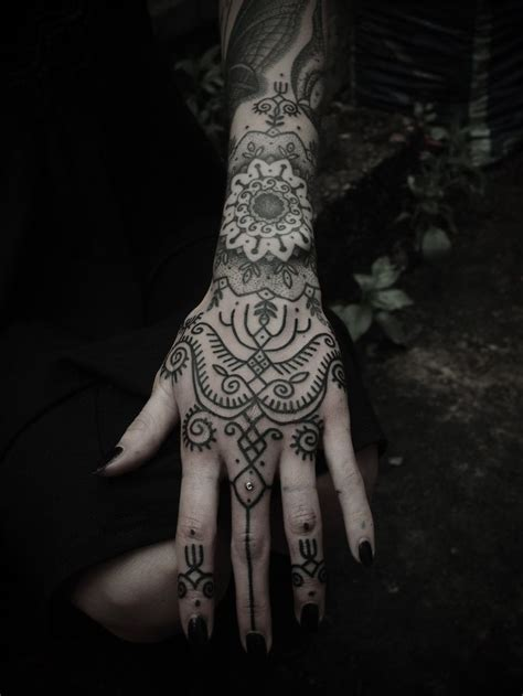 amazing black ink henna tattoo on left hand 92 best hand palm finger tattoos images on pinterest