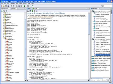 oracle tutorial create schema using sql developer to learn oracle