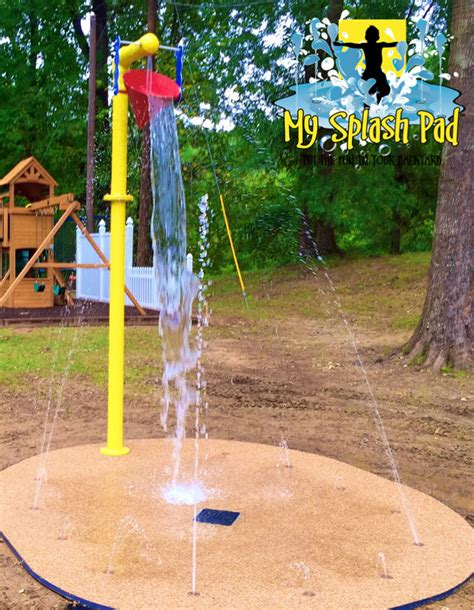 backyard splash park residential splashpad water park in natchez mississippi