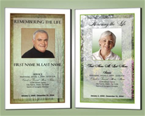 Obituary Phlet Template funeral programme design
