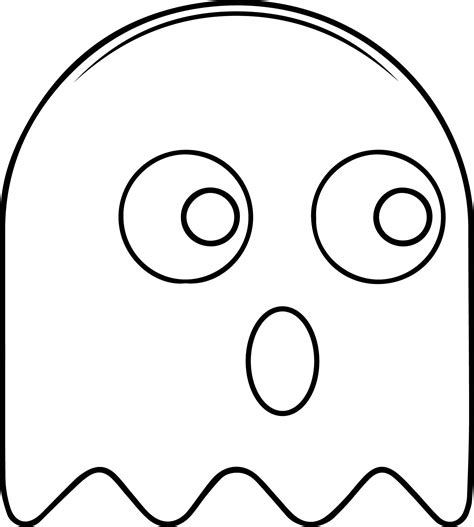 ghost coloring pages coloringsuite com pac man ghost template pictures to pin on pinterest