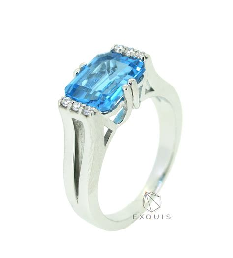 blue topaz emerald cut sterling silver ring rg142051embt