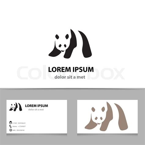 panda card template abstract vector panda logo design template with business