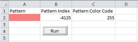 pattern color index excel vba excel vba fill pattern vba and vb net tutorials