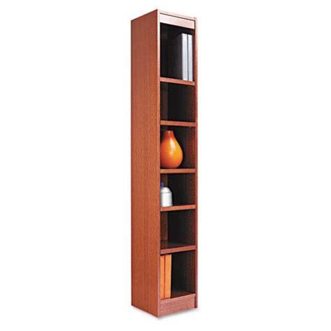 alera narrow profile bookcase alera narrow profile bookcase wood veneer 6 shelf 12w x