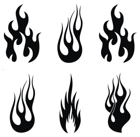 simple flame stencils www pixshark com images