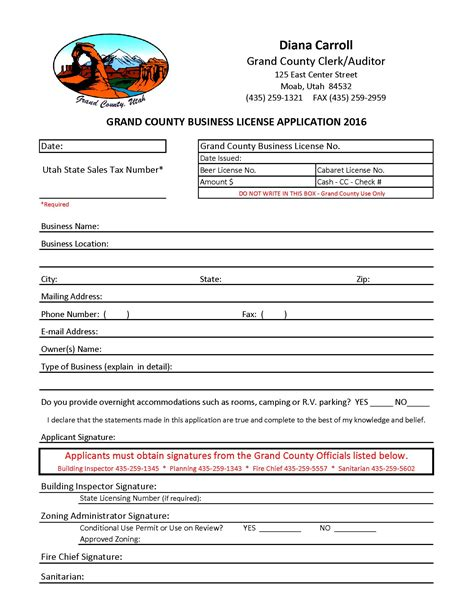 Utah Right To Marriage Records Business Licenses Grand County Ut Official Website