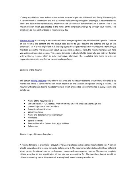 impressive resume sles create impressive resumes using resume templates