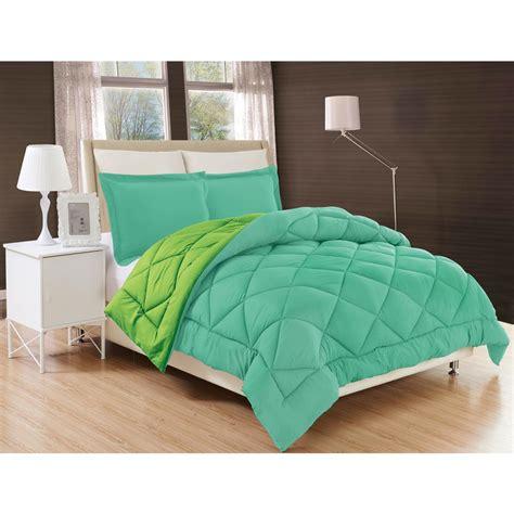 comfort bed sets elegant comfort down alternative aqua and lime reversible