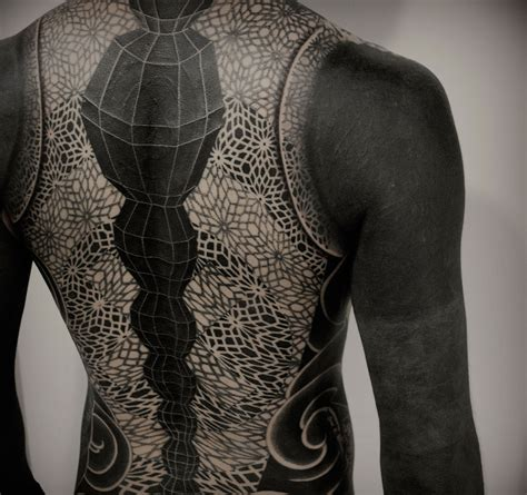 full body white tattoo japan based tattooer gakkin creates beautiful body suits