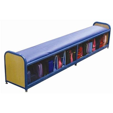 bench storage unit school cloakroom long bench storage unit sports supports mobility healthcare