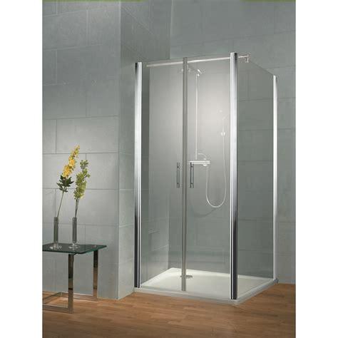 Frameless 800 Saloon Door Recessed Option With 2 X Hinged Hsk Shower Doors