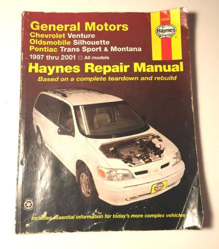 car repair manual download 1992 oldsmobile silhouette engine control purchase haynes repair manual gm venture silhouette trans sport montana 1997 2000 motorcycle