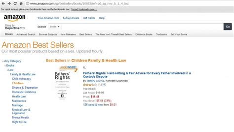 amazon best seller fathers rights attorney jeffery m leving hits 1 on