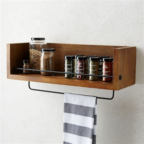 rustic shelf kitchen west elm