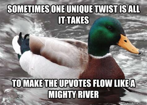 Mallard Duck Meme - image 487904 actual advice mallard know your meme