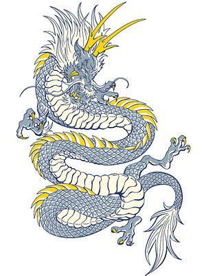 中国龙素描图图片展示 中国龙素描图相关图片下载