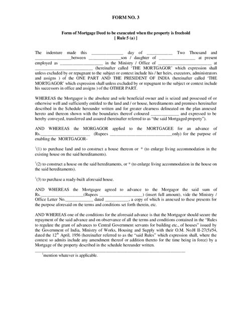 Mortgage Deed Form 16 Free Templates In Pdf Word Excel Download Mortgage Deed Template
