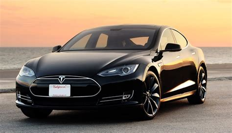 the gallery for gt tesla model s sunset