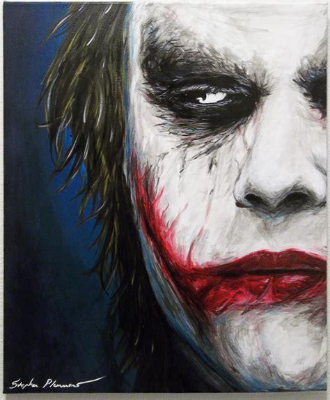 acrylic joker painting acrylic joker