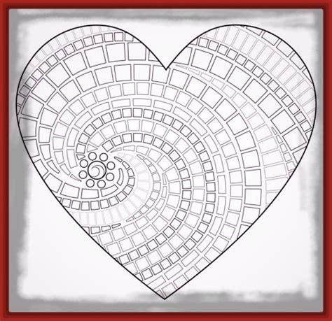imagenes de corazones medianos dibujos para imprimir de corazones y mandalas imagenes
