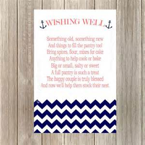Wedding Wishes Nautical Instant Download Wedding Wishing Well Cards Pantry Party