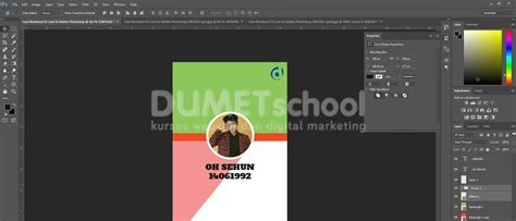 ukuran membuat id card di photoshop cara membuat id card di adobe photoshop