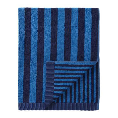 marimekko kaksi raitaa navy blue bath towel marimekko