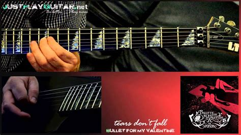 how to play bullet for my on guitar bullet for my tears don t fall how to play
