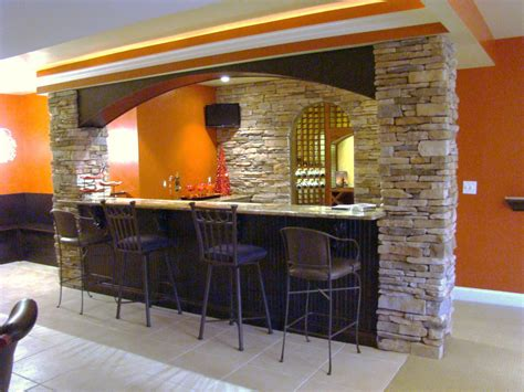 Painting Kitchen Island by Having Fun In The Basement With These Basement Bar Ideas