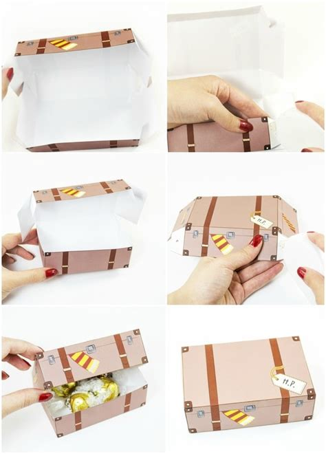Harry Potter Things To Make Out Of Paper - diy printable harry potter inspired favor boxes 183 how to