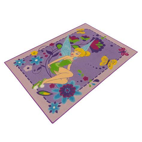 tinkerbell teppich teppich disney kinder tinkerbell fee m 228 dchen lila 95x133