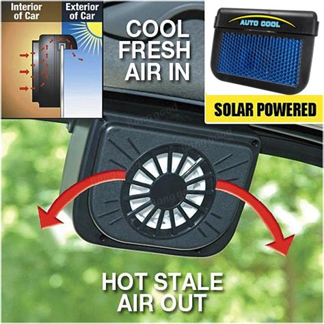 Solar Powered Car Air Ventilation System Sistem Venti Murah solar power car window auto air vent cool fan cooler