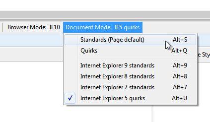 Ie Document Mode