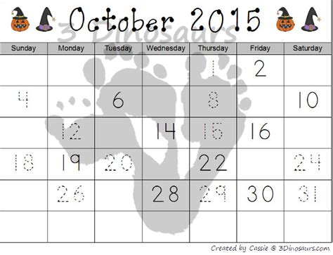 printable calendar 2015 halloween free 2015 halloween calendar 3 dinosaurs