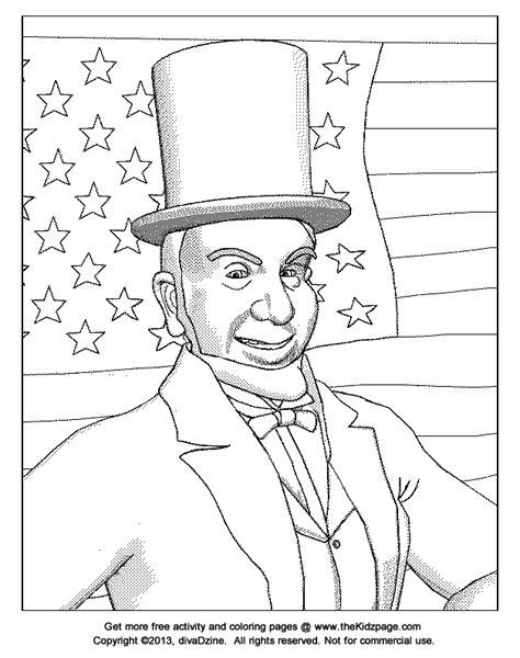printable coloring pages of abraham lincoln abraham printable coloring pages