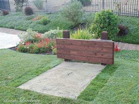 backyard horseshoe pits horseshoe pit ideas simi valley garden horseshoe pit